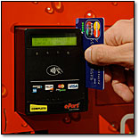 credit card reader vending machine